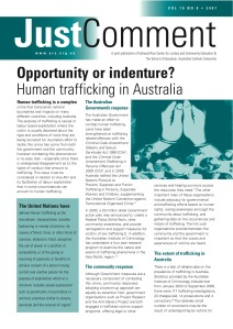 Human Trafficking in Aust