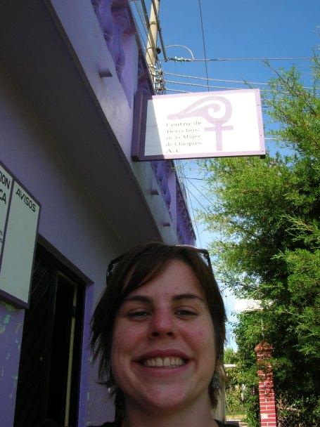 Angela Lauman outside the CDMCH office